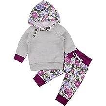 gllive Newborn Baby Boy Girls Long Sleeve Hoodie Tops Pants Clothes Set