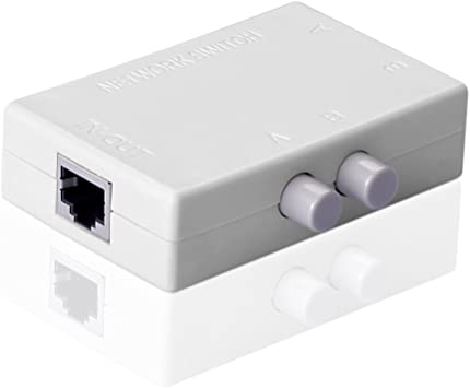 MT-VIKI RJ45-2M 2 entradas y 1 salida o 2 salidas y 1 entrada, 100/M Conmutador de red con 3/puertos