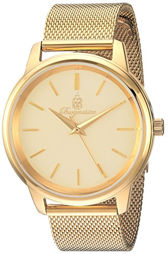 Burgmeister Women's Quartz Stainless Steel Casual Watch, Color:Gold-Toned (Model: BMS02-279)