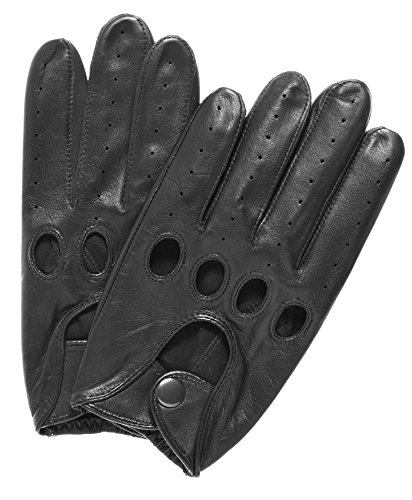 Gloves Leather Black Driving (Pratt and Hart Traditional Leather Driving Gloves Size M Color Black)