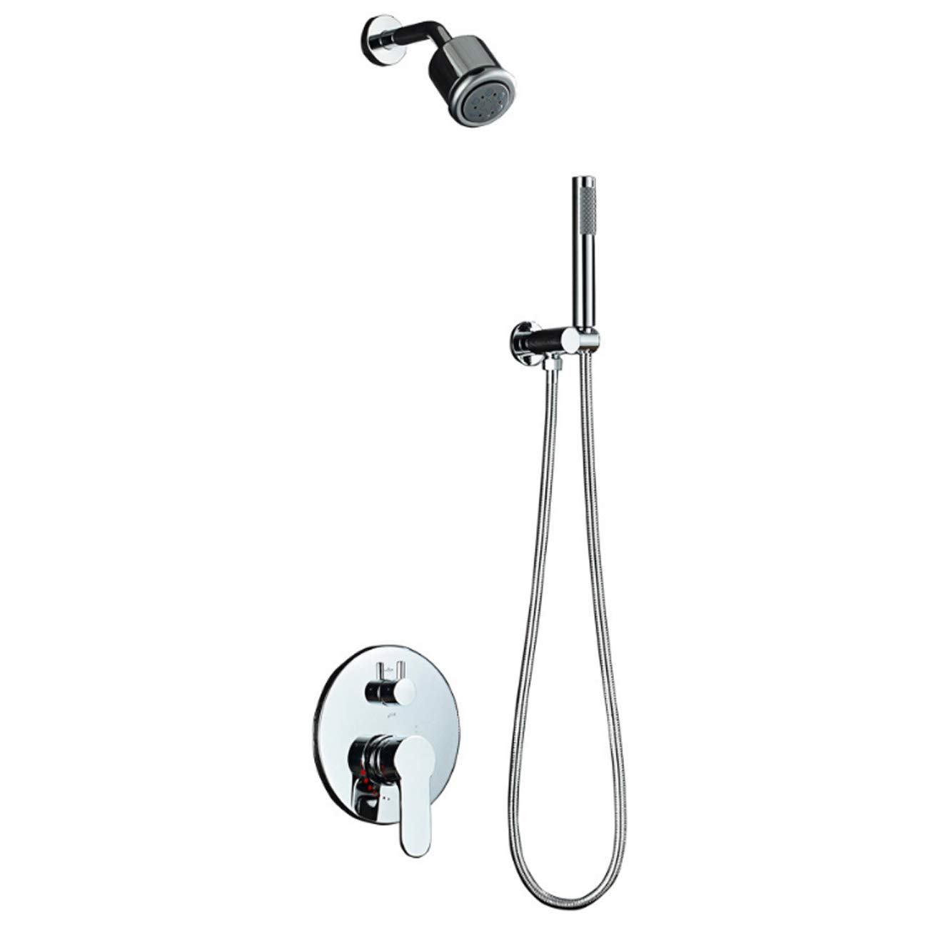 Ordinaryvalvebody Tochange Concealed Shower Mixer Set For Bath In-Wall Concealed Shower System With 3 Mode Small Nozzle + Handheld Shower For Bathroom Hotel Gym,Ordinaryvalvebody