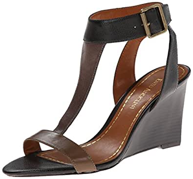 Enzo Angiolini Women's Vlade Wedge Sandal,Black/Taupe Multi,10.5 M US
