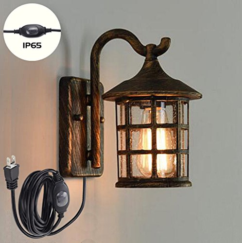 new arrivals 4a789 a5713 ANYE Antique Bronze Wall Lamp Retro Ancient Steampunk ...
