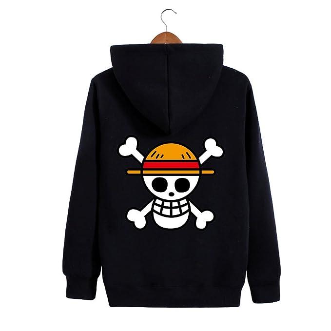 Weimisi One Piece Anime Monkey D. Luffy Zip-up Hoodie