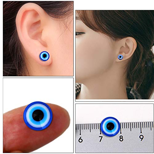 Lottoy 1 Pair Unisex Weight Loss Blue Eyes Shape Ear Stud, Healthy Magnetic Therapy Earrings 10mm, No Piercing by Lottoy (Image #2)