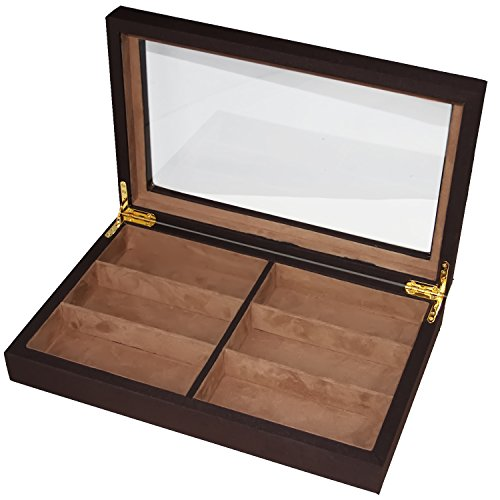 CHIYODA 6 Grid Eyeglasses Box Sunglasses Storage Case Jewel Display - Hut Eyeglass