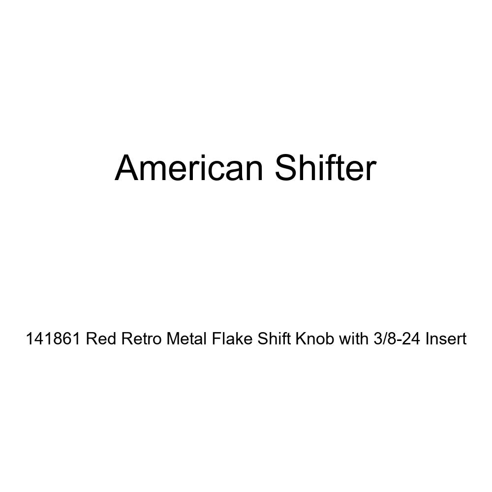 American Shifter 141861 Red Retro Metal Flake Shift Knob with 3//8-24 Insert