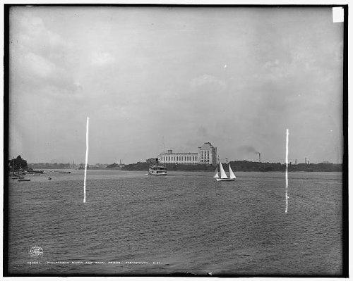 Photo: Piscataqua River, naval prison, jails, Portsmouth, New Hampshire, Kittery, Maine, c1908 . - Shopping Kittery