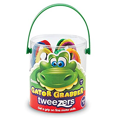 Learning Resources Gator Grabber Tweezers, Fine Motor Toy, Various Colors, Set of 12, Ages 2+: Toys & Games