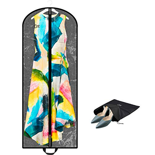 Luxury Clear Garment Bag Cover For Multiple Clothes | 60 Inch + 5