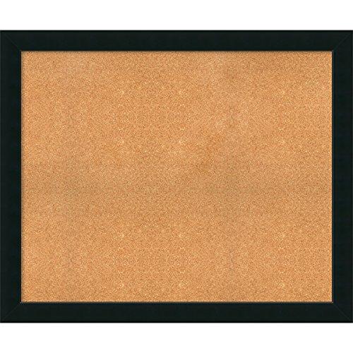 Framed Cork Board, Choose Your Custom Size, Corvino Black Wood by Amanti Art