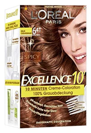 loreal excellence 10 641 light caramel brown 10 minutes cream - Coloration L Oreal Caramel