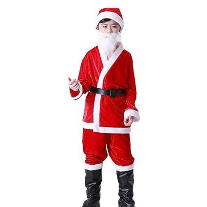 QIAOY Traje Festivo De Papá Noel Traje De Disfraces De ...