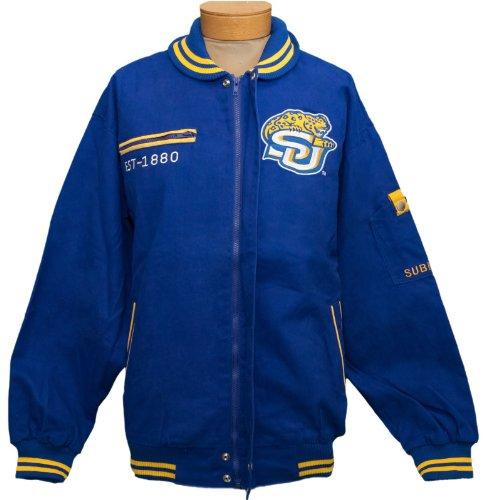 新しい。Southern University Jaguars zipUp刺繍ジャケットサイズXL B0784KZ349