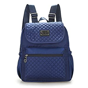 Women Nylon Shoulder Bags, Veriya Lightweight Waterproof Casual Travel School Backpack Rucksack Student Schoolbag Multipurpose Daypack for Teenager Ladies --Large Capacity (Dark Blue)