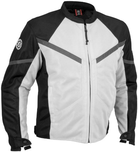 (Firstgear Rush Mesh Jacket , Gender: Mens/Unisex, Apparel Material: Textile, Size: 2XL, Primary Color: Silver FTJ.1005.02.M005)
