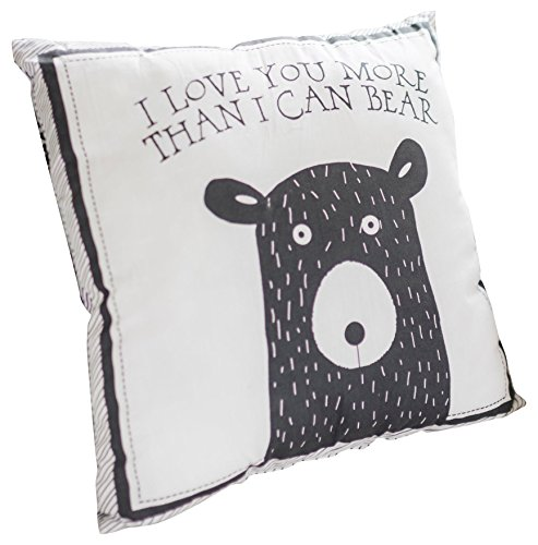 My Baby Sam Little Bear Throw Pillow, Black