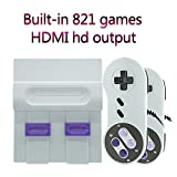 ZTPOWER HDMI SNES Classic Game Consoles, Super Mini Game Consoles Built-in 821TV Video Games with Double Controllers