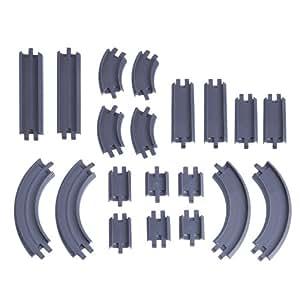 Chuggington Die Cast LC54302 - 20 piezas de accesorios Rail - Pack Chuggington de Fundición, rieles rectos y curvos