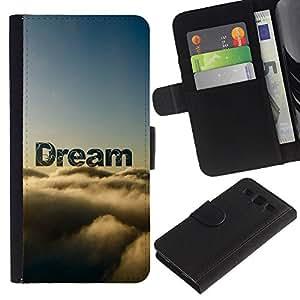 """Be-Star la tarjeta de CršŠdito Slots PU Funda de cuero Monedero caso cubierta de piel Para Samsung Galaxy S3 III i9300 i747 ( Sue?o Nubes Awe naturaleza Cielo Dios Esperanza"""" )"""