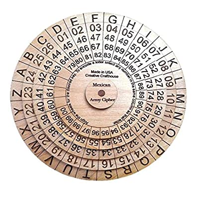 Mexican Army Cipher Wheel A Historical Decoder Ring Encryption Device Cryptex: Toys & Games