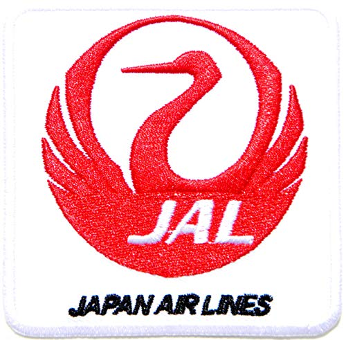 JAL Japan Airlines Jet Airplane Aircraft Air Hostess Stewardess Captian Flight Logo Sign Kid Jacket T Shirt Patch Sew Iron on Embroidered Applique Badge Sign Uniform Custome Gift