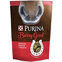 Purina   Berry Good - Rasberry Flavored Senior Horse Treats   Added Biotin for Hoof Health -3 Pound (3 lb) Bag