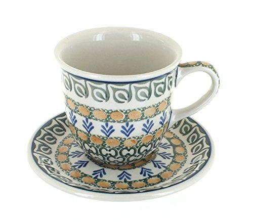 Cup Saucer Herb (Polish Pottery Herb Garden Cup & Saucer)