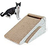 PetEnjoy Cat Scratching Post Kitty Scratch Pad Pet Scratcher Cardboard Lounge Bed Puppy Dog Toys with Cat Bell(Triangle)