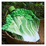 Creative Cabbage Umbrella Lettuce Folding Sunny and Rainy Umbrella Anti mite Beach Funny Vegetable Parasol