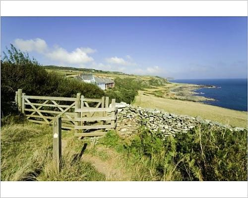 Photographic Print of View from the Devon Coast Path at Prawle Point, (Prawle Point)