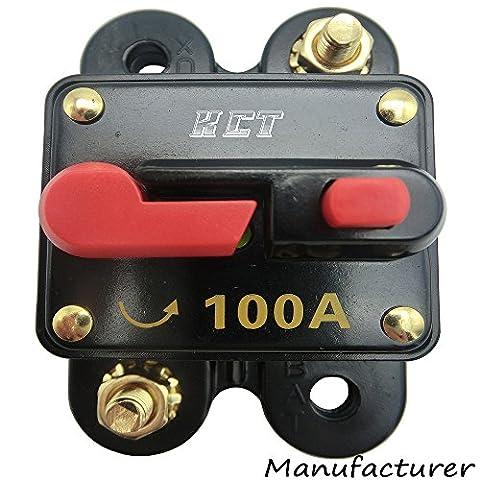 Car Audio Circuit Breaker Reset Fuse 100A For System Protection 12V/24V (Car Audio Digital Fuse)