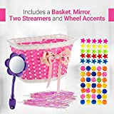 Girls Bike Bicycle Decorations Bike Basket Spoke Beads Streamers, Bike Mirror Cute Fun Pink Purple Decoration