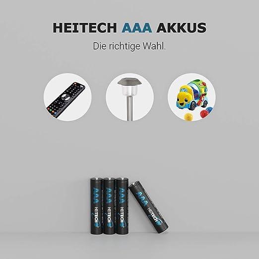 Akkubatterien ideal für Telefon 550mAh & 1,2V 4× NiMH