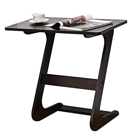 Tangkula Sofa Table End Table Tv Tray Z Style Snack Side Table Laptop Desk Table Couch Side Table In Living Room For Eating Working Writing