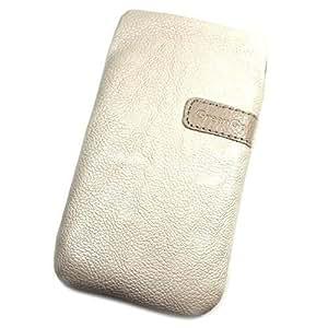 Funda Pochette de piel sintética crema XXL para Samsung Galaxy J1