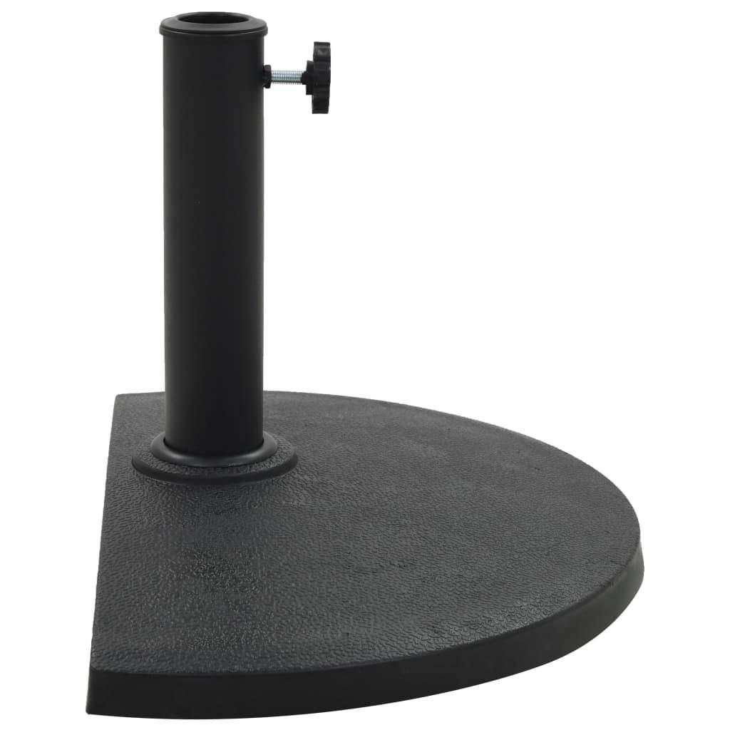 vidaXL Sonnenschirmständer Halbrund 9 kg Schwarz Schirmhalter Schirmständer
