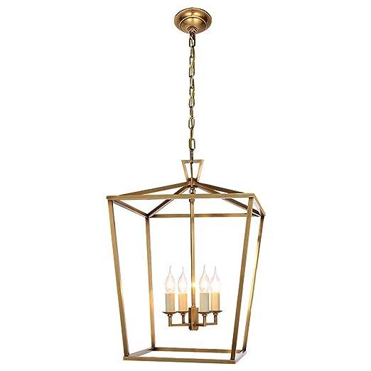 MBLIGHT Lámpara Industrial Vintage, 5 Luces, Velas rústicas, Luces ...