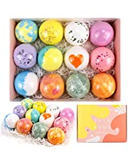 (Christmas gift) Bath Bombs Gift Set 12 Large Fizzies with Pure Essential Oils, Coconut Oil, Epsom Salt, and Kaolin Clay, Kid Safe, Best Birthday Gift for Women, Mother, Christmas