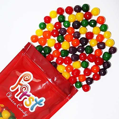 FirstChoiceCandy Assorted Fruit Sours Chewy Mix Flavor Candy Balls 2LB Bag - Balls Fruit Sours Candy