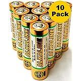 AA Batteries 1.5 Volt GI Alkaline Double A Battery (10)