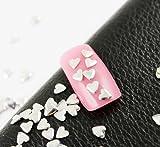 1000Pcs Silver 4mm Heart Metallic Studs Art 3D Design Decoration Nail Stickers