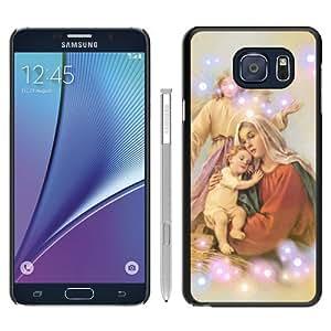 Hot Sale Samsung Galaxy Note 5 Case ,virgin mary Black Samsung Galaxy Note 5 Cover Unique And Beautiful Designed Phone Case