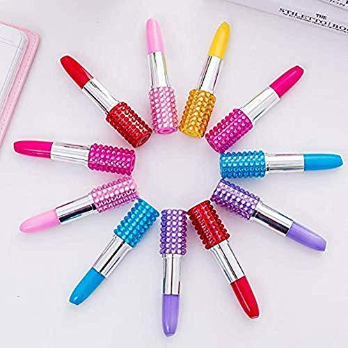 Lipstick Shape Pen, SunAngel 12 PCS Creative Ballpoint Writing Pens Multi-Color Lipstick Cute Ball Pen Novelty Office Stationery Students Children Gift