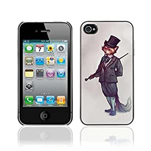 Colorful Printed Hard Protective Back Case Cover Shell Skin for Apple iPhone 4 / 4S ( Sophisticated Fox )