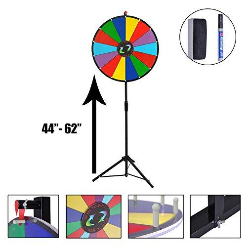 Koval Inc Dry Erase Spinning Prize Wheel (Rainbow5, 24' 15-Slots)