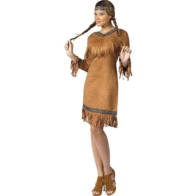 sc 1 st  Amazon.com & Amazon.com: Fun World Womenu0027s Native American Costume: Clothing
