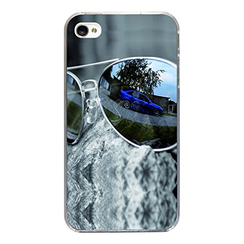 "Disagu Design Case Coque pour Apple iPhone 4 Housse etui coque pochette ""Auto in Sonnenbrille"""