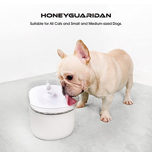 HoneyGuaridan Smart Automatic Pet Water Fountain Dispenser with Infrared Induction, Designed for Small & Medium-Sized Dogs and All Cats