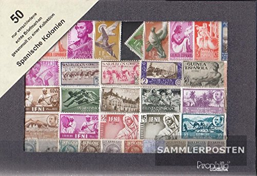 Spain 50 different stamps Spanish Colonies without Successor (Stamps for collectors)